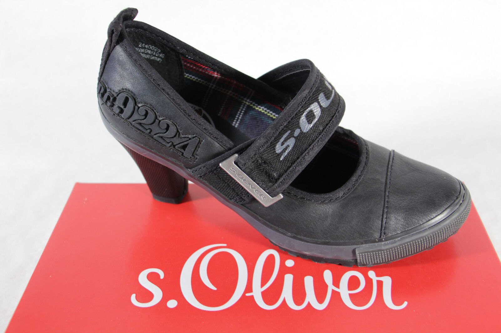 S.Oliver Court Shoes, Black, Leather Insole, NEW