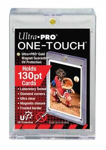 2-Ultra-Pro-ONE-TOUCH-MAGNETIC-130pt-UV-Card-Holder-Display-Case-130-pt