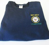 Navy Seals vietnam Veteran United States Navy Emblem Embroidered Shirt