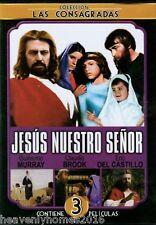 Jesus Nuestro Senor -3 En 1 (DVD) Jesus EL Nino Dios, Jesus Maria y Jose-NEW