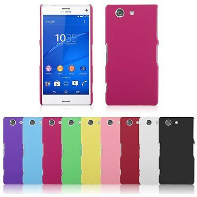 Hard Rubberized Matte Plastic Snap-On Cover Case fr Sony Xperia Z3 Compact D5803