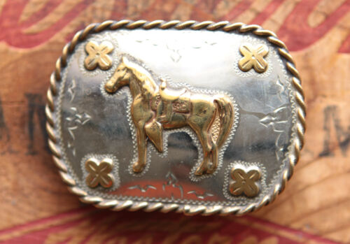 Vintage 1990/'s 30th Kit Carson County Little Britches Rodeo Belt Buckle Nickel Silver All Around Girls Award Western Wear Cowboy Cowgirl