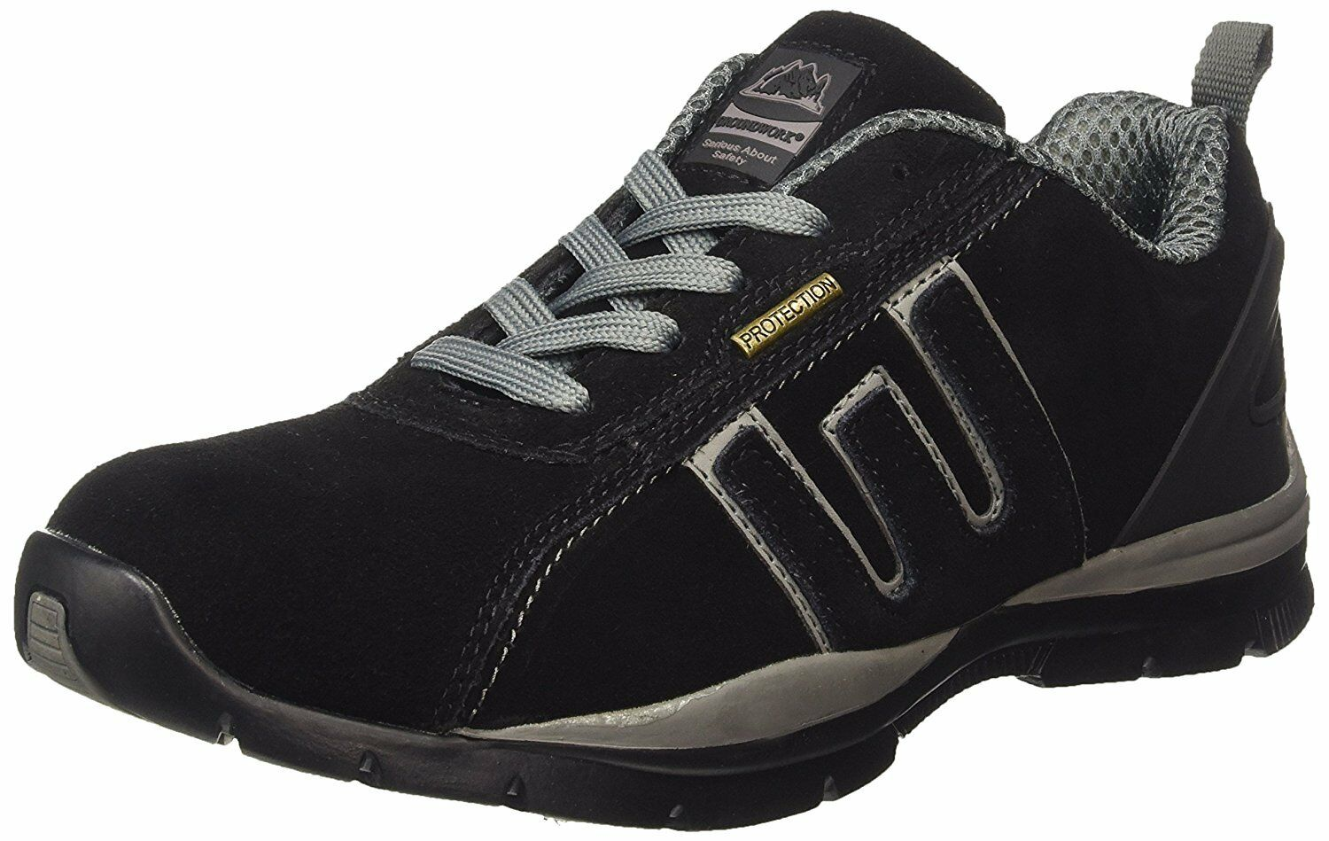 Herren GR86 LIGHTWEIGHT LEATHER UPPERS, UP STEEL TOE CAP LACE UP UPPERS, SAFETY TRAINER, SIZE 5e4f48