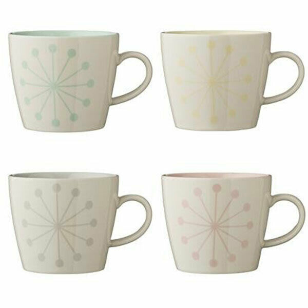 Bloomingville Alberte Tea Coffee Hot Chocolate Mugs Set of 4