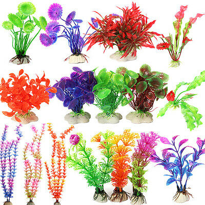 Aquarium Plastic Plant Fish Tank Decor Water Grass Underwater Ornament Grass