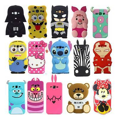 New 3D Cute Cartoon Animals Soft Silicone Case Cover Back Skin For Various Phone