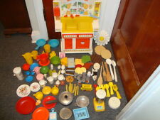 Vintage Romper Room My First Kitchen with Plates, Silverware, Food, Cans More