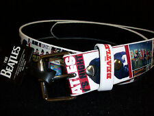 NEW ROCK BAND THE BEATLES BUCKLE BELT BAND photos and songs - sz LARGE - w 36