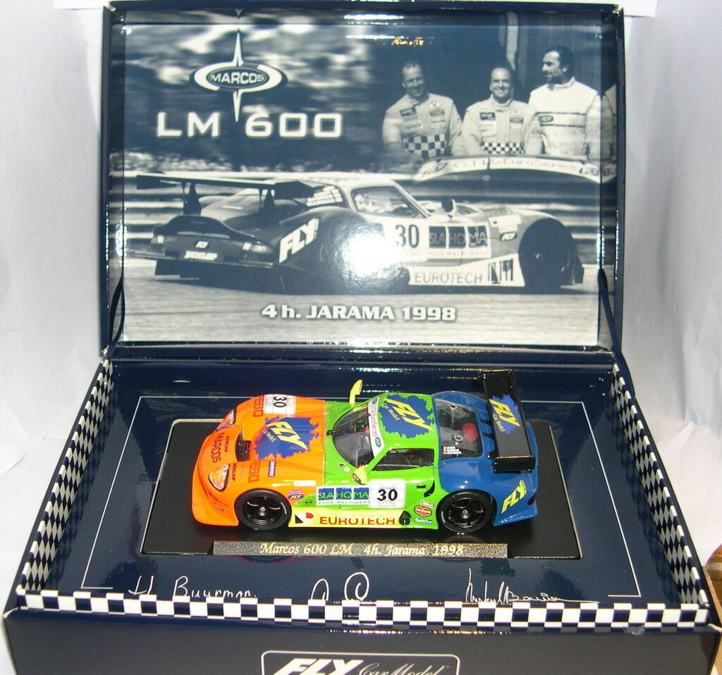 FLY A27 SLOT VOITURE MARCOS LM600 30 4H 4H 4H JARAMA 1998 H-BUURMAN-C.EUSER-R.BARRIOS 3c798a