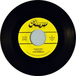 7-034-DON-SIMMONS-Cajun-Boy-Make-Believe-PLAYER-INTERNATIONAL-Country-USA-1989