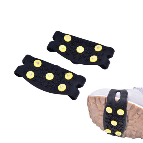 5-Teeth Ice Snow Shoes Spike Claws Boots Chain Crampon Anti-slip Climbing Shoe9U