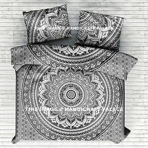 Super King Size Mandala Duvet Cover Comforter Indian Quilt Cover With 2 Pillows