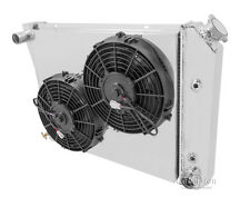 """3 Row Radiator with Fan(s) and Fan Shroud For 68-87 GM 20"""" Core"""