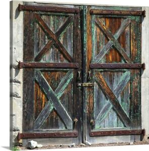 Old Rustic Barn Doors Canvas Wall Art Print Home Decor Ebay