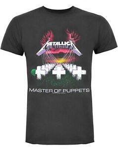 Amplified Metallica Master of Puppets T-Shirt Charcoal Men/'s T-Shirt SIZE S-XL