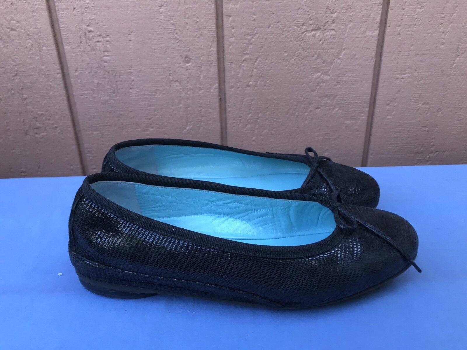 Mismatch THIERRY RABOTIN $420 L US L $420 5 / R 5.5 Gem ITALY Ballerina Black Flats A5 1ab580