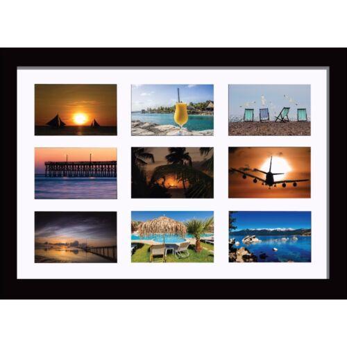 """Large Multi Photo Ouverture Cadre pour 9 photos de taille 6/"""" x 4/"""" Pouces"""