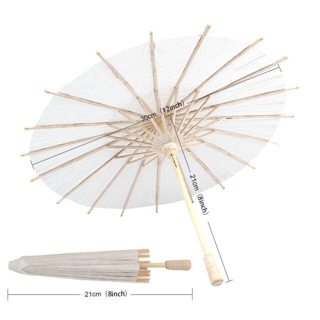 White Paper Parasol/Umbrella Wedding Favor Dimension 15cm Photography Prop New