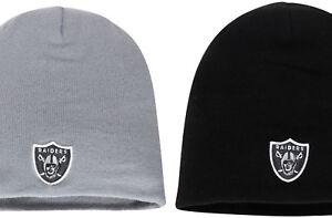 Oakland-Raiders-Vegas-Winter-Beanie-Knit-Winter-Knit-Cap-Black-or-Gray