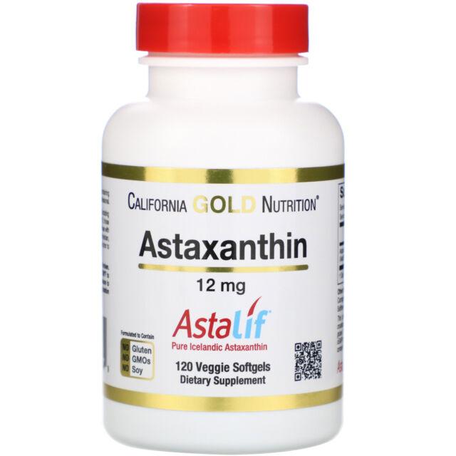 Astaxanthin, AstaLif Pure Icelandic, 12 mg, 120 Veggie Softgels