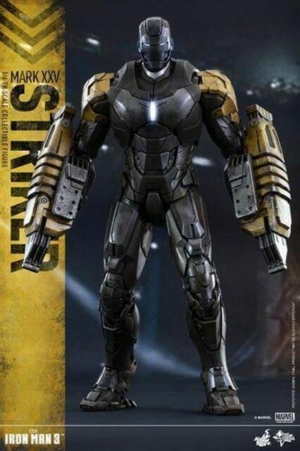 Hot Toy Iron Man LED Mark 25 Striker Armor Hall Soldier Figure Model Garage 2.0