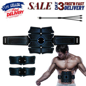 Details about  /8 Pads Abs Abdominal Muscle Toner EMS Muscle Stimulator Electric Fitness Trainer