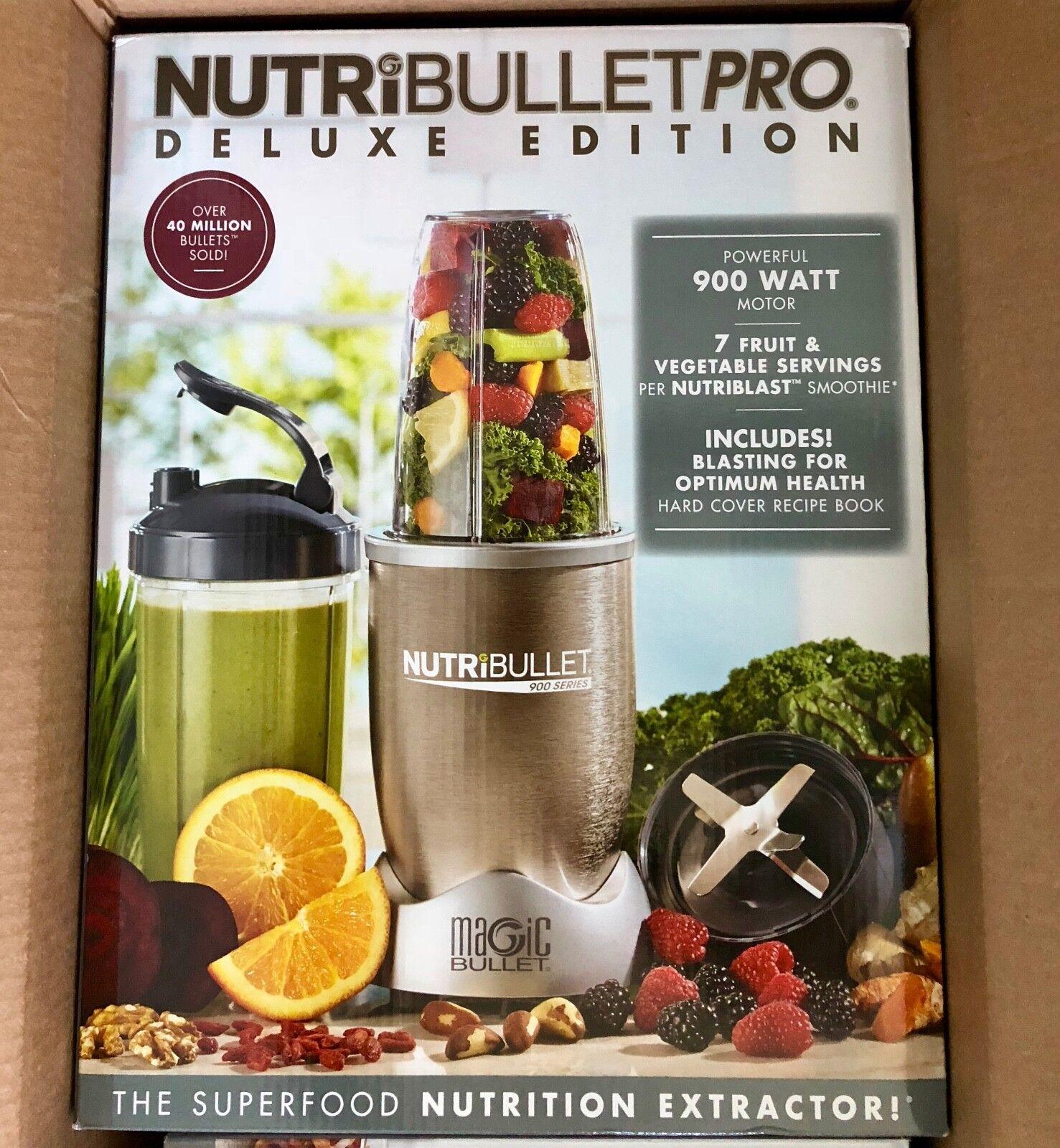 NutriBullet Pro 900 Watt Stainless Steel 13 Piece Nutrition Blender & Recipes