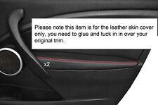 Rojo Stitch 2x Frontal Puerta Apoyabrazos Skin Tapa se ajusta Renault Megane Mk3 08-13 Philippines