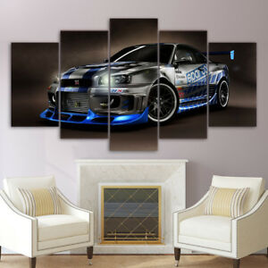 Image Is Loading Nissan Skyline R34 Car Wall Modern Painting Poster