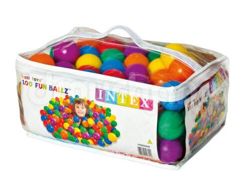 borsone con 100 palline INTEX diametro 6.5cm piscina tenda,gioco Bambini