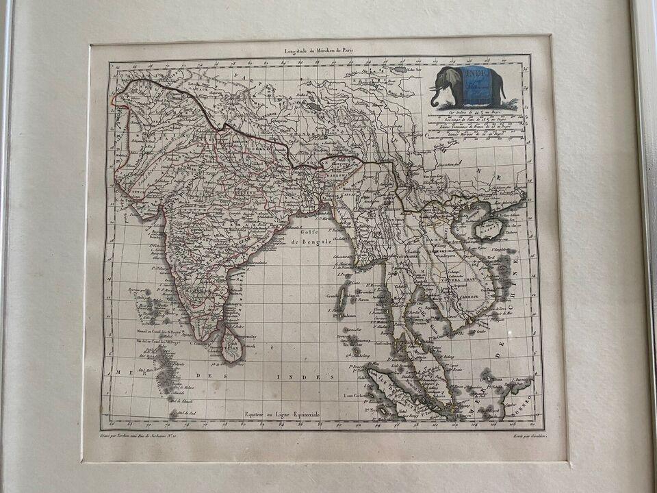 Antik kort, motiv: Indien, b: 38 h: 36