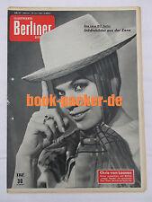 ILLUSTRIERTE BERLINER ZEITSCHRIFT 1961 Nr. 31: Chris van Loosen