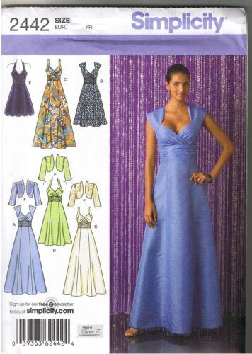 Straps Halter Party Prom Dress Bolero Jacket Sewing Pattern Size 6 8 10 12 14