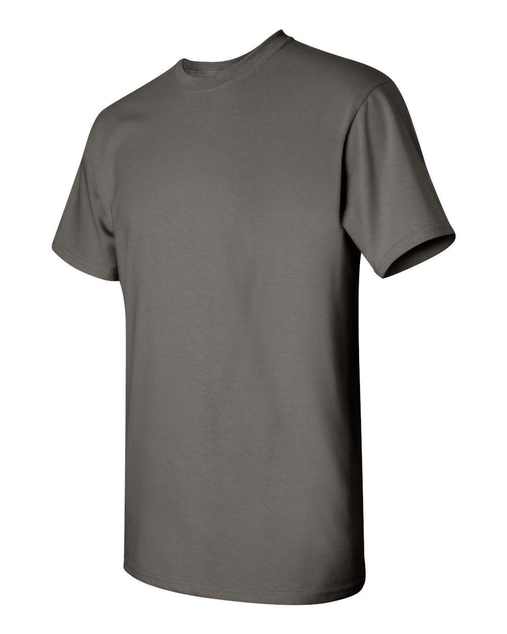 5 NEW MEN Wholesale Gildan 100% Cotton Charcoal Adult T-Shirts 2XL 3XL 4XL 5XL