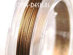 1-x-10m-Gold-Tiger-Tail-Beading-Wire-Thread-0-38mm-B25
