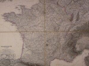 Ancienne Carte Géographique France 1801 Vogel(1828-1897)frankreich Allemagne Map Sensation Confortable