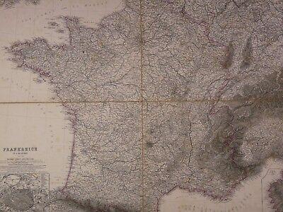 Deskundig Ancienne Carte Géographique France 1801 Vogel(1828-1897)frankreich Allemagne Map