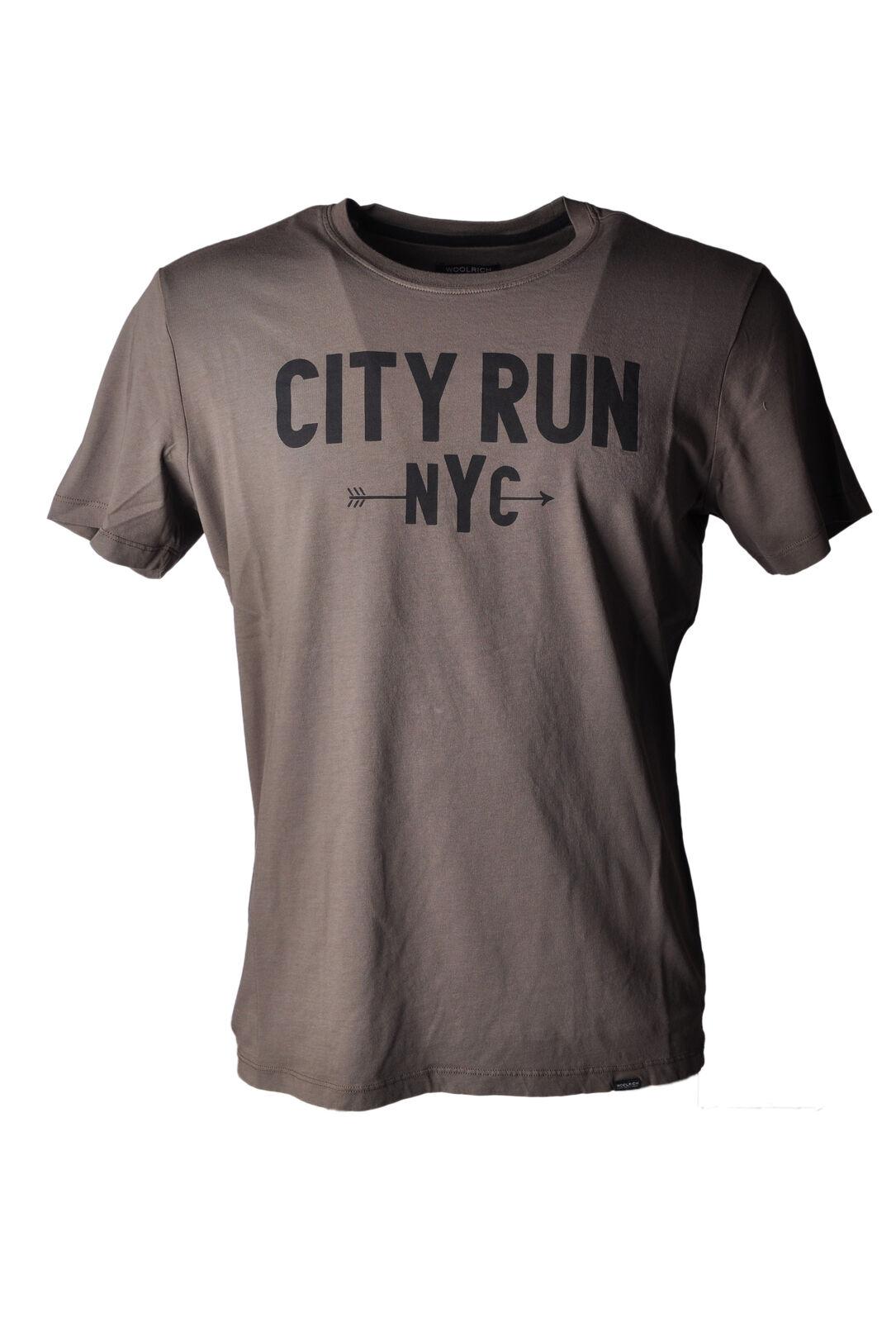 Woolrich - Topwear-T-shirts - Man - Grey - 4896710C191852