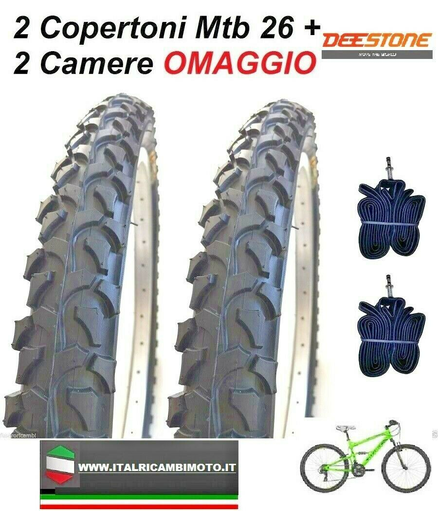 2 Copertoni  MTB 26 Bicicletta Mountain Bike 26x1.90  95 Gomme Pneumatico CICLO