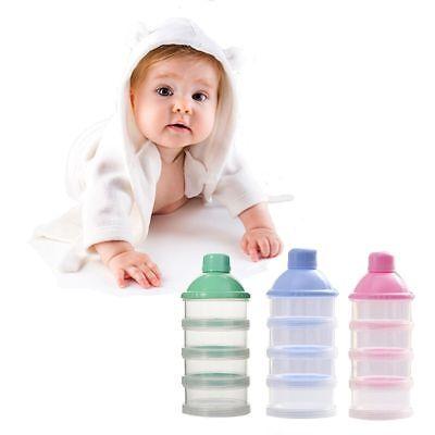 Baby Bottle Feeding Milk Powder Bottle Container 3/&4 Layer Food Feeding Powder