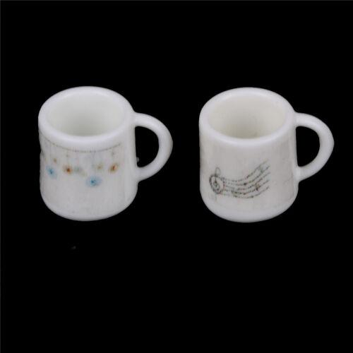 2pcs 1:12 Dollhouse Mug Miniature Cup Toy Fairy Garden Miniatures DecoratioB$CA