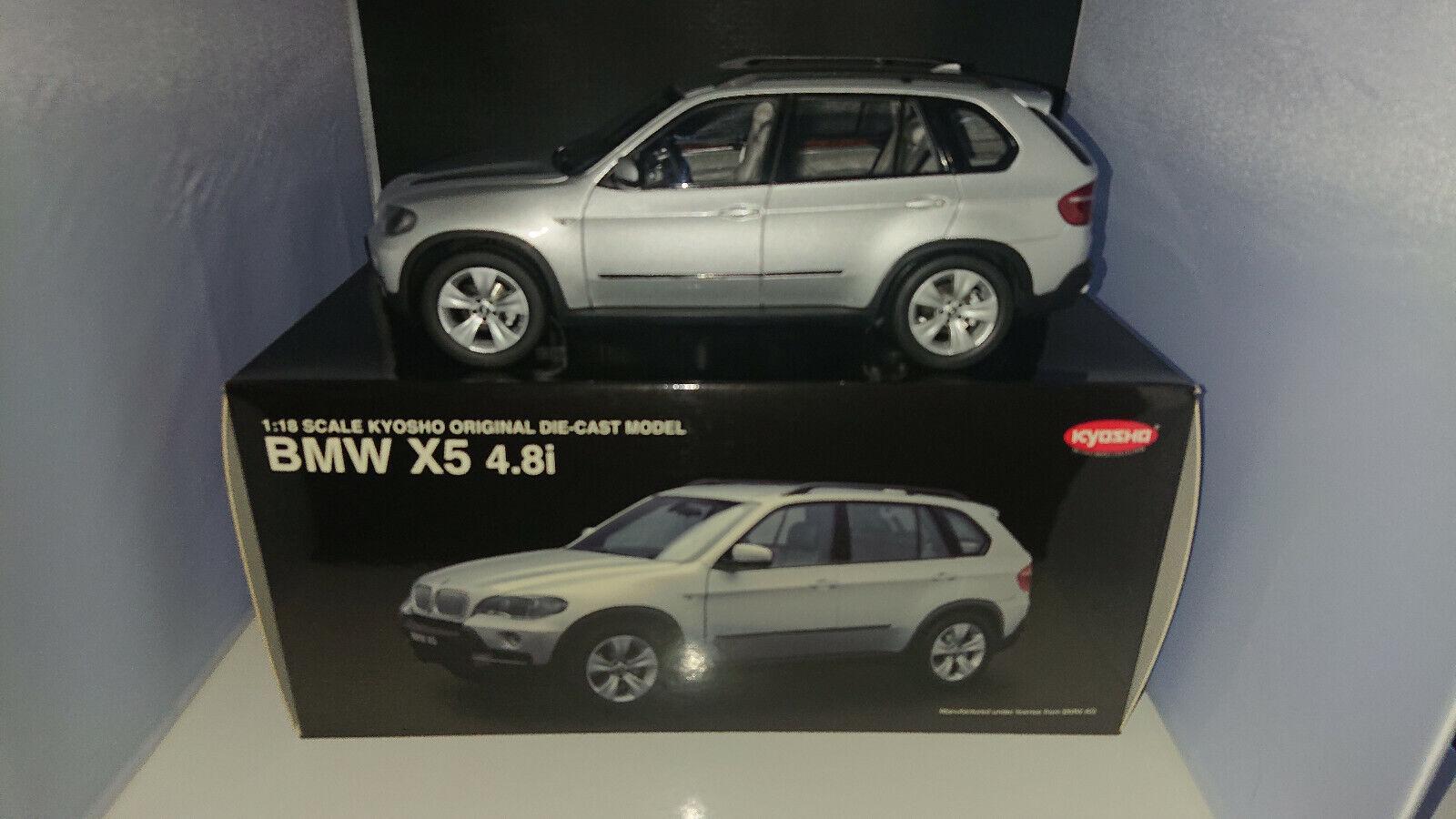 1 18 KYOSHO BMW X5 4,8i V8 E70 argentMET. OVP SELTEN