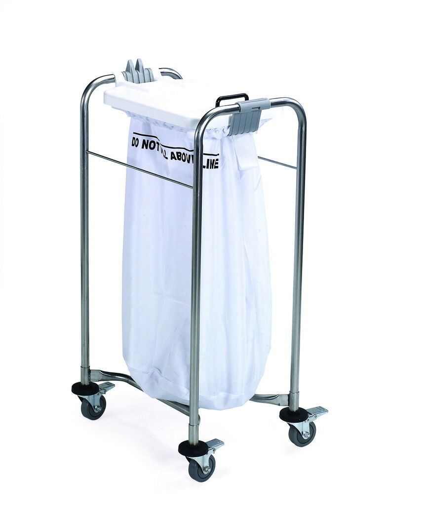 Medi Cart Laundry Trolley Medical Heavy Duty Professional Cart with Lid