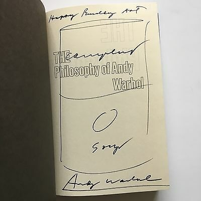 Andy Warhol Campbell's Soup Can Drawing in Philosophy of Andy Warhol 1st Ed