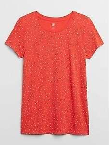 BNEW GAP Favorite Crewneck Womens T-Shirt, Dots, medium