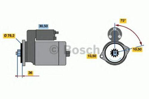 Motorino avviamento BOSCH 0986010580 PORSCHE VW