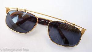 Sonnenbrillen & Zubehör Damen-accessoires Diszipliniert Neostyle Ausgefallene Designer Sonnenbrille Gold Metall Dunkle Gläser Grösse L