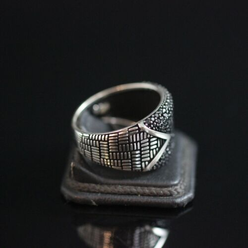 Onyx Men/'s Ring 925 Sterling Silver Handmade Authentic Turkish  Size 7-13