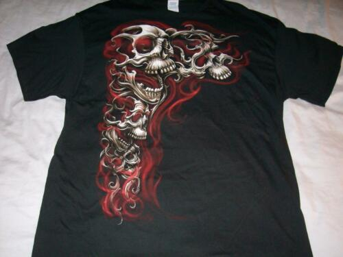 Skulls with Red Smoke Halloween Black Delta T-shirt Men/'s 2XL NWOT