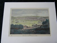 C1895 Hand Coloured & Mounted Print/Engraving of View of Oban Harbour/Town